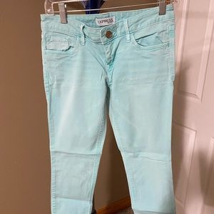 Teal/Mint Express Skinny Jeans